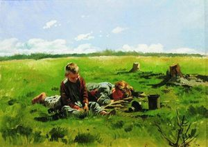 Vladimir Yegorovich Makovsky - Boys in the field