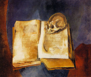 Vladimir Tatlin - A Skull on the Open Book