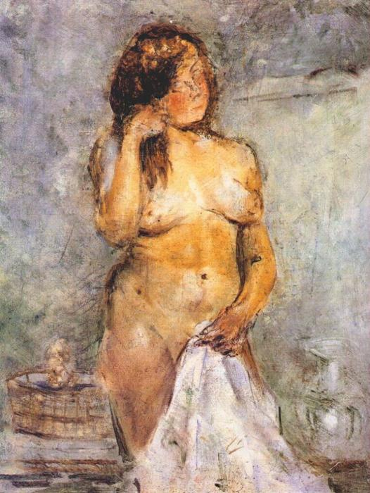 Female bather, 1930 by Vladimir Tatlin (1885-1953, Ukraine) | Art Reproduction | WahooArt.com