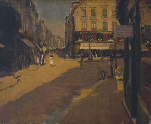 Walter Richard Sickert - Cafe of the Courts, Dieppe