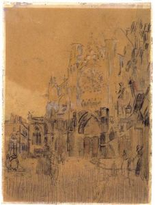 Walter Richard Sickert - Dieppe, Study No. 2, Facade of St. Jacques