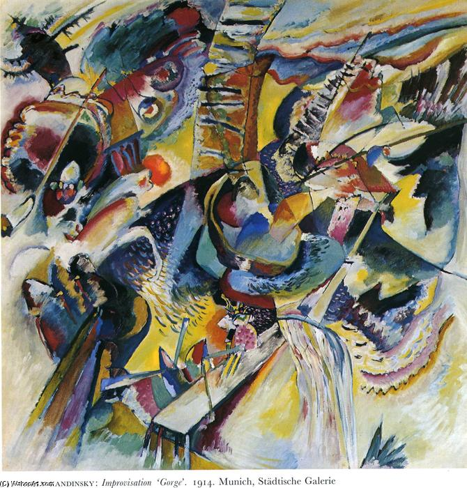 Improvisation. Gorge, Oil On Canvas by Wassily Kandinsky (1866-1944, Russia)