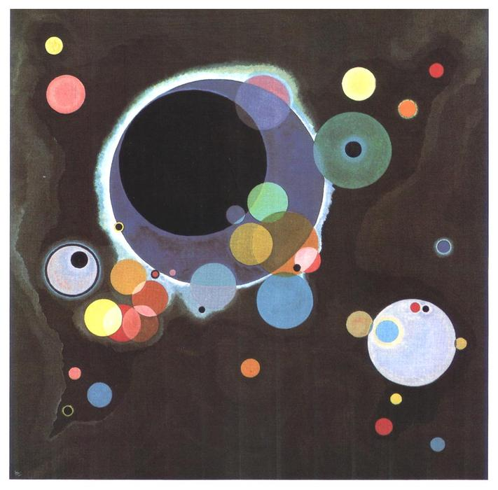 Several circles, Oil On Canvas by Wassily Kandinsky (1866-1944, Russia)
