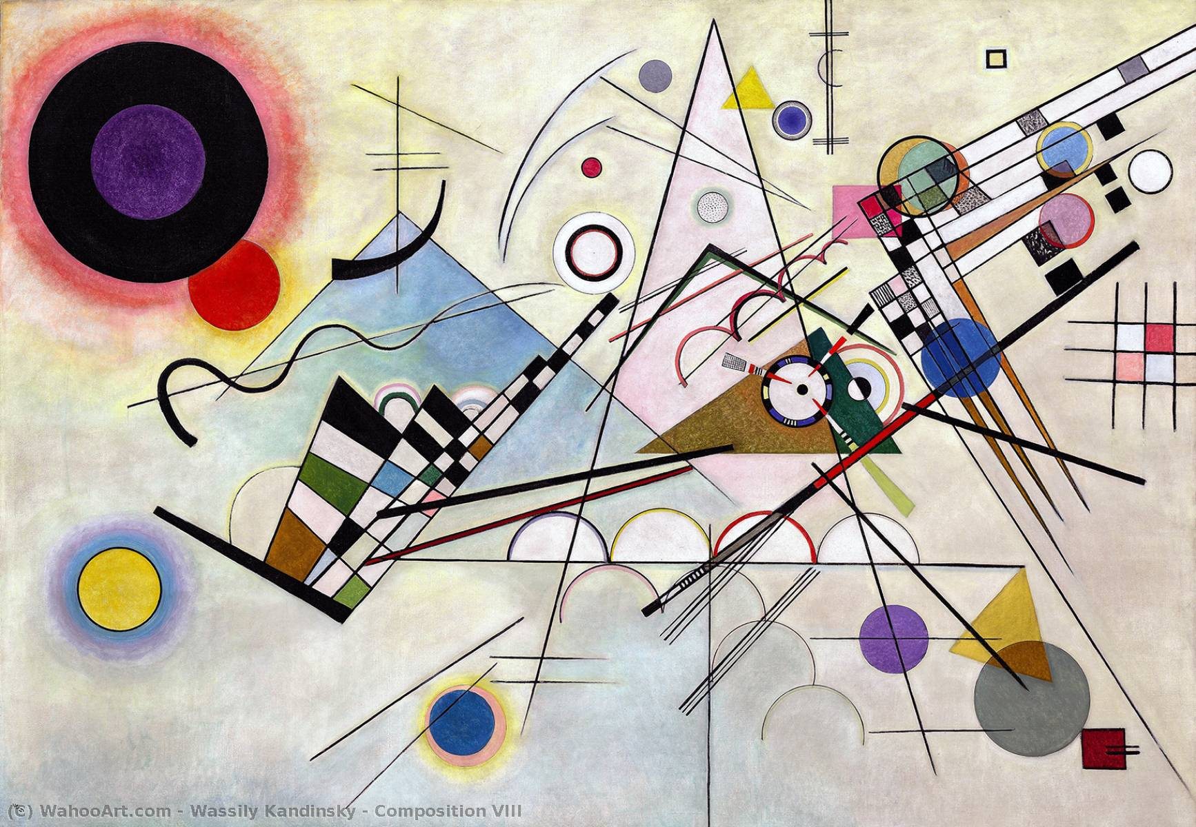 Order Oil Painting : Composition VIII, 1923 by Wassily Kandinsky (1866-1944, Russia) | WahooArt.com