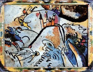 Wassily Kandinsky - Glass Painting with the Sun (Small Pleasures) - (Famous paintings)