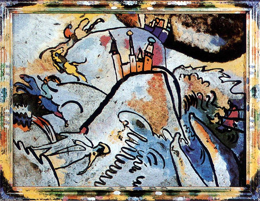 Glass Painting with the Sun (Small Pleasures), Glass by Wassily Kandinsky (1866-1944, Russia)