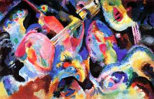 Order Painting Copy : Flood improvisation, 1913 by Wassily Kandinsky (1866-1944, Russia) | WahooArt.com