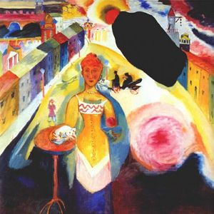 Wassily Kandinsky - Lady in Moscow