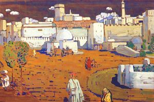Order Famous Paintings Reproductions : Arab Town, 1905 by Wassily Kandinsky (1866-1944, Russia) | WahooArt.com