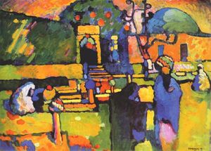 Wassily Kandinsky - Arabs I (Cemetery) - (Famous paintings)