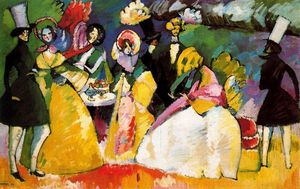 Wassily Kandinsky - Group in Crinolines