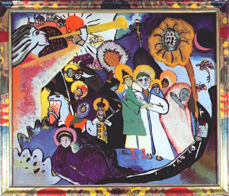 All Saints day I, Oil On Canvas by Wassily Kandinsky (1866-1944, Russia)