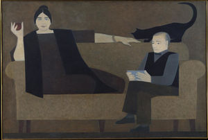 Will Barnet - Kiesler and Wife
