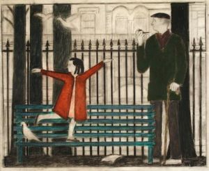 Will Barnet - Study for Gramercy Park