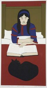 Will Barnet - Child reading - Red