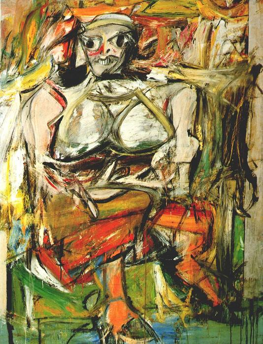 Woman I, Oil On Canvas by Willem De Kooning (1904-1997, Netherlands)