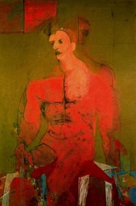 Willem De Kooning - Seated figure (male classical)