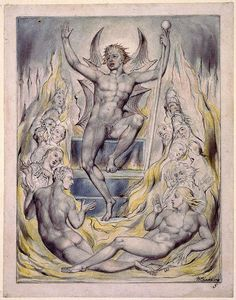 William Blake - Satan Addressing his Potentates