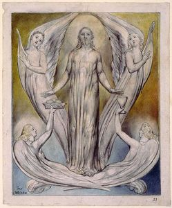 William Blake - Angels Ministering to Christ