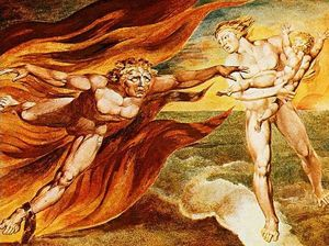 William Blake - The Good and Evil Angels