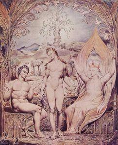 William Blake - Archangel Raphael with Adam and Eve