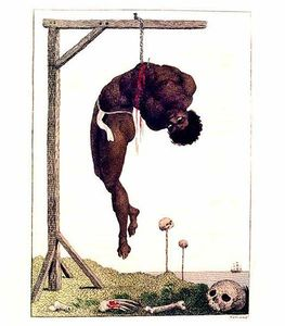 William Blake - A Negro Hung Alive by the Ribs to a Gallows