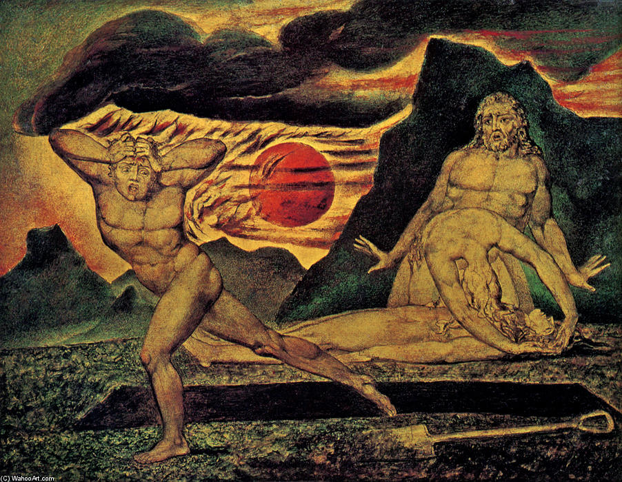 Buy Museum Art Reproductions | The Body of Abel Found by Adam & Eve, 1825 by William Blake (1757-1827, United Kingdom) | WahooArt.com