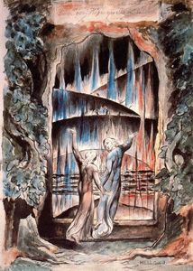William Blake - Dante and Virgil at the Gates of Hell