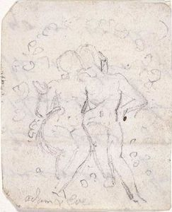 William Blake - Sketch for Satan Watching the Endearments of Adam and Eve