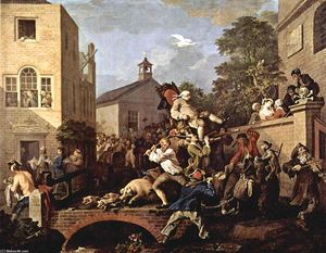 William Hogarth - The triumph of Representatives