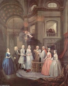 William Hogarth - The Wedding of Stephen Beckingham and Mary Cox
