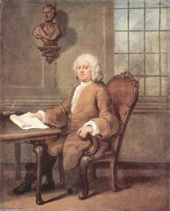 William Hogarth - Portrait of Dr. Benjamin Hoadly
