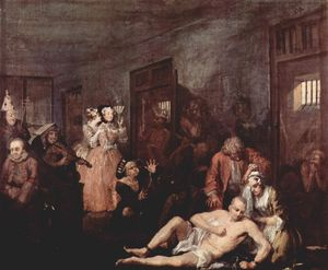 William Hogarth - The Madhouse