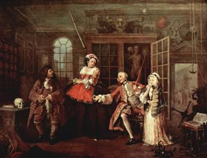 William Hogarth - Visit with the Quack Doctor