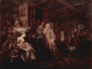 William Hogarth - The Wedding Banquet