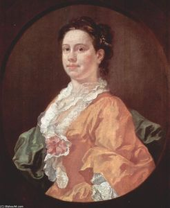 William Hogarth - Portrait of Madam Salter