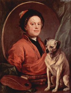 William Hogarth - Self portrait