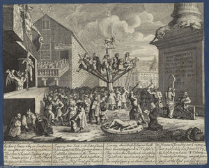 William Hogarth - Emblematical print of the South Sea Scheme