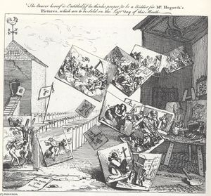 William Hogarth - The Battle of the Pictures
