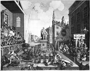 William Hogarth - The Times, plate 2