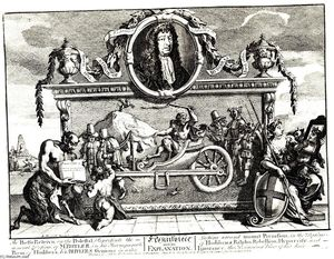 William Hogarth - Frontispiece and its explanation (Hurdibras)