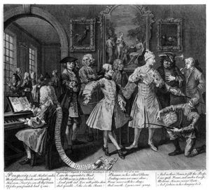 William Hogarth - Surrounded by Artists and Professors
