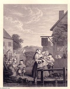 William Hogarth - Times of the Day: Evening