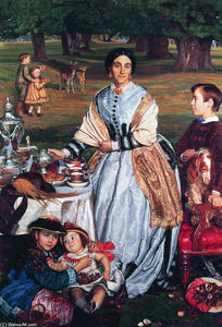 William Holman Hunt - Lady Fairbairn with her Children