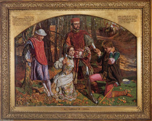 William Holman Hunt - Valentine Rescuing Silvia from Proteus