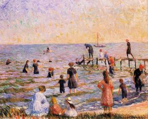William James Glackens - Bathing at Bellport, Long Island