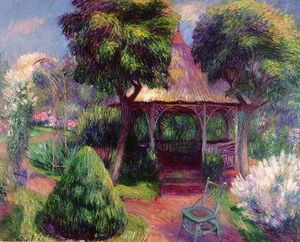 William James Glackens - Garden in Hartford