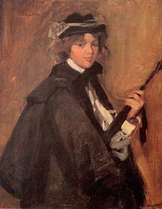 William James Glackens - Girl in a Black Cape