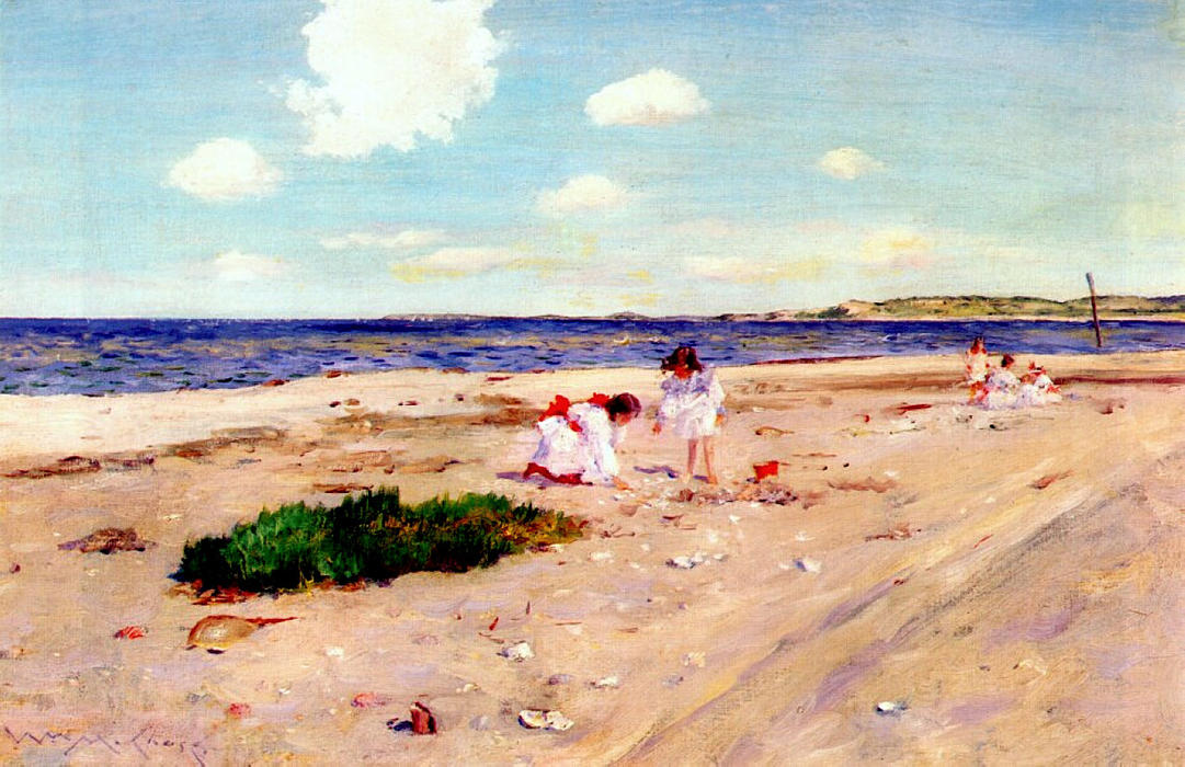 Shell Beach at Shinnecock, 1892 by William Merritt Chase (1849-1916, United States) | Museum Quality Reproductions | WahooArt.com