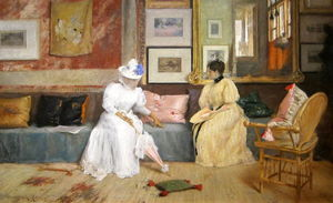 William Merritt Chase - A Friendly Call - (Buy fine Art Reproductions)